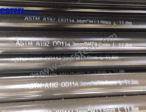 ASTM A192 Seamless Carbon Steel Boiler Tubes